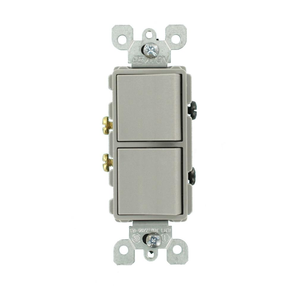 Leviton Electrical Button Switches Not Lossing Wiring Diagram On Dimmer Combo 15 Amp Decora Commercial Grade Combination Two Switch