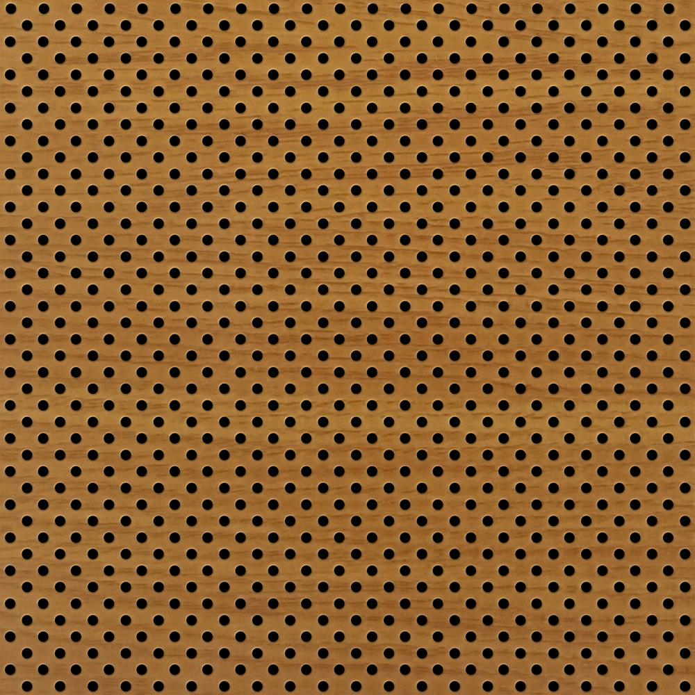 TopTile Oakwood 2 ft. x 2 ft. Perforated Metal Ceiling Tiles (Case of 10)