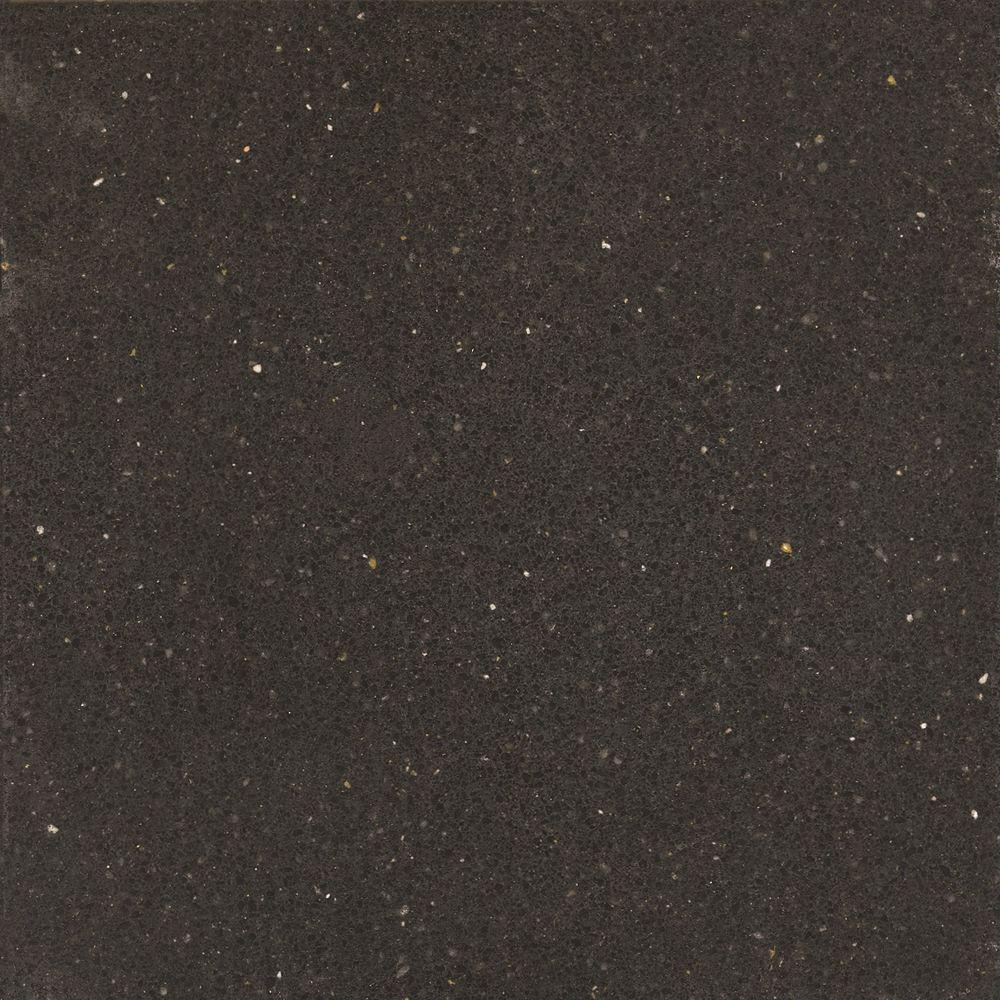 2 in. x 4 in. Quartz Countertop Sample in Tebas Black