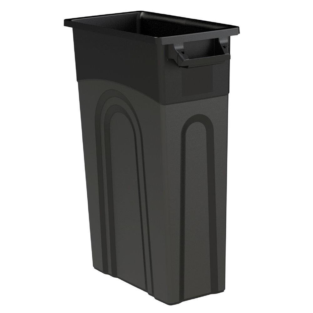 23 Gal. Black Highboy Waste Container