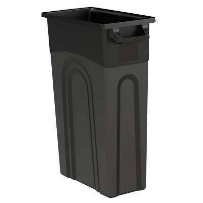 23 Gal. Black Highboy Waste Container (4-Pack)