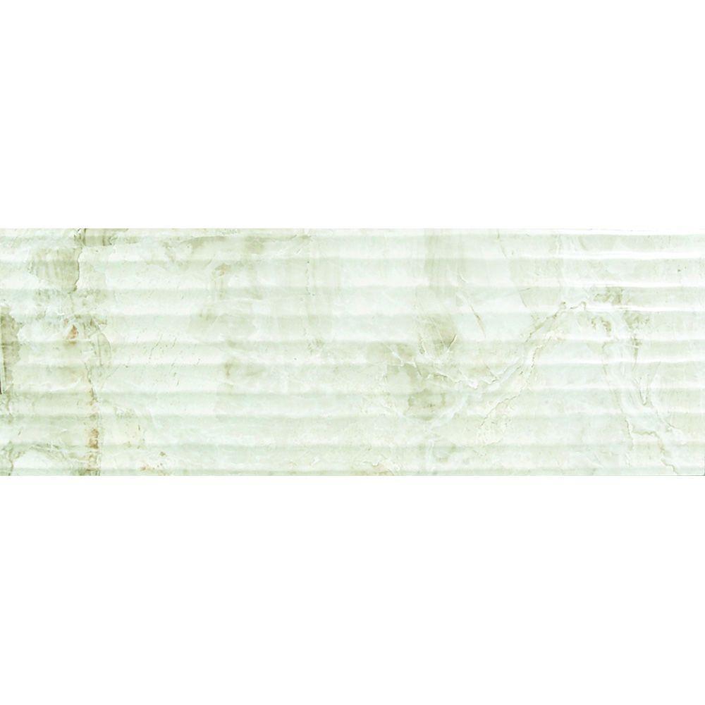 Centarus 12 in. x 36 in. Ceramic Ripple Wall Tile
