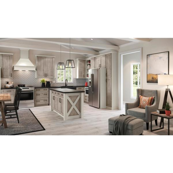 Reviews For American Woodmark Hanover 4 X 2 1 2 In Cabinet Door Sample In Drift 97082 The Home Depot