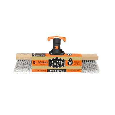 18 in. Premium Smooth Surface Push Broom Head