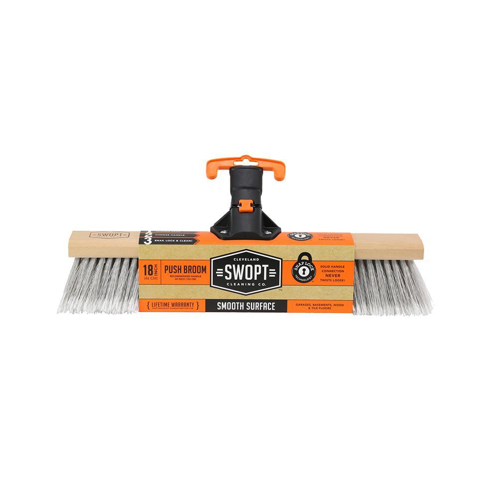 18 in. Premium Smooth Surface Push Broom Head