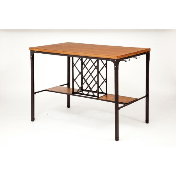 ACME Furniture Dora Oak Wine Storage Pub/Bar Table 72285