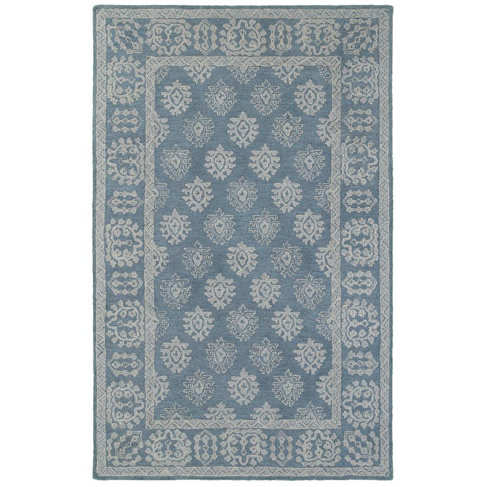 Minerva Blue Grey 8 Ft X 10 Ft Oriental Area Rug 022019 The Home Depot