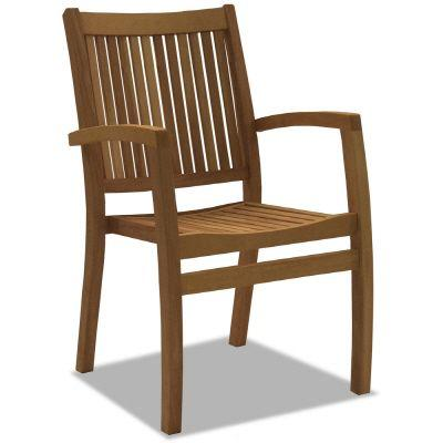 Hampton Bay Amazon Teak Patio Arm Chair (Set of 2)-DISCONTINUED