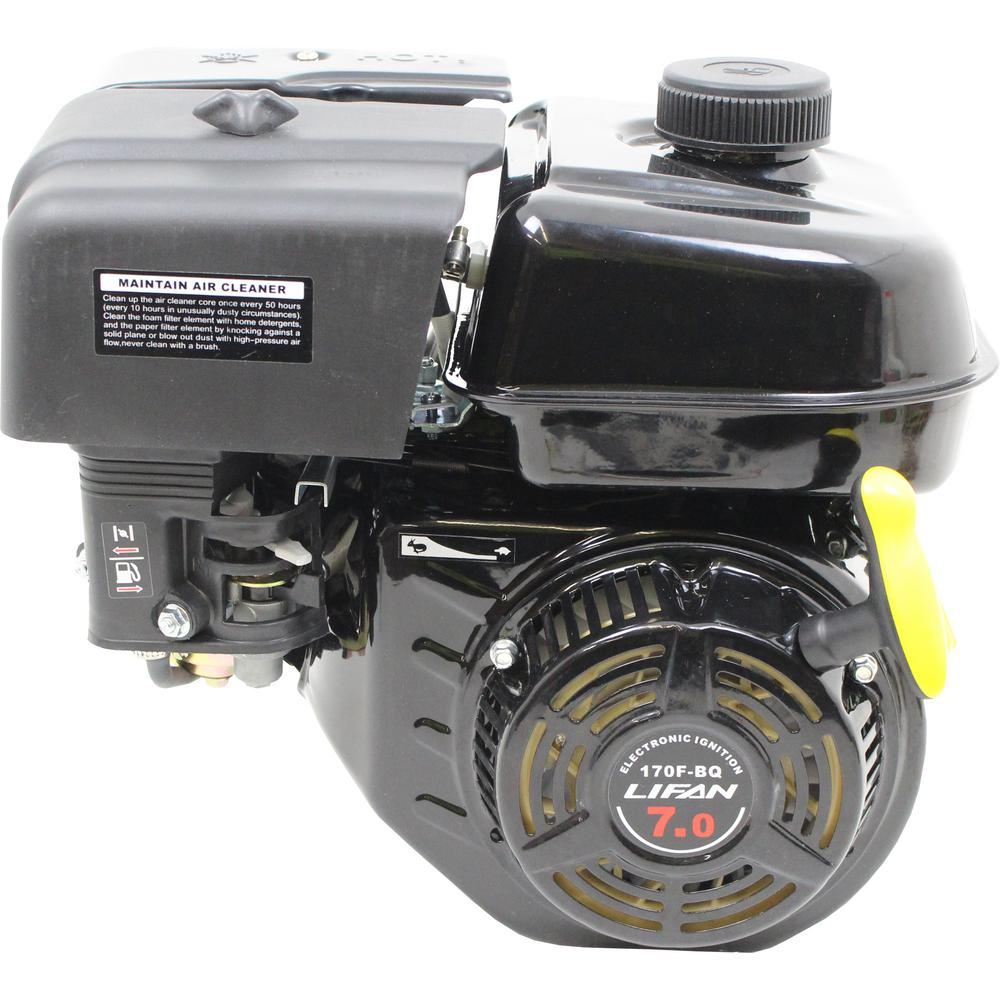 LIFAN 7 HP 3/4 in  Horizontal Shaft Recoil Start Gas Engine