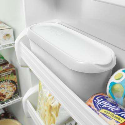 1.5 qt. White Glide-A-Scoop Ice Cream Tub, Insulated, Airtight Reusable Freezer Container With Non-Slip Base