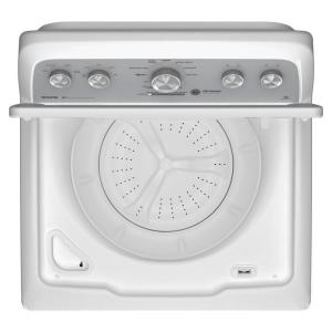 Maytag 4 3 cu  ft  High-Efficiency White Top Load Washing Machine with  Optimal Dispensers