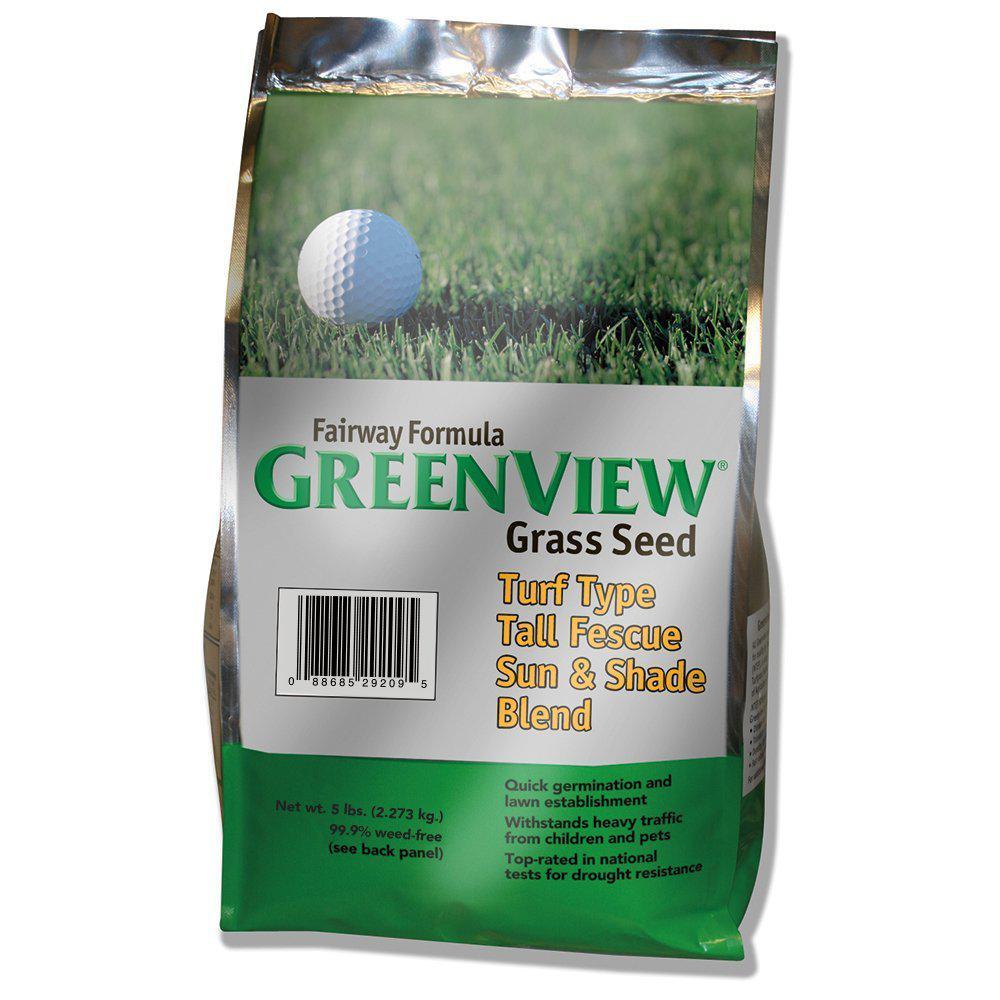 5 lb. Fairway Formula Turf Tall Fescue Grass Seed Sun and
