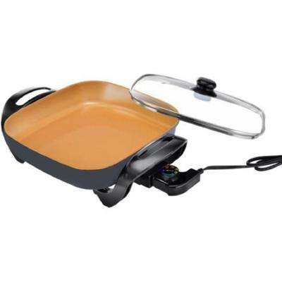 12 in. Non-Stick Ti-Ceramic Electric Skillet with Multiple Temperature Settings