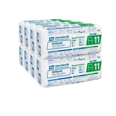 R-11 Unfaced Fiberglass Insulation Batt 24 in. x 96 in. (8-Bags)
