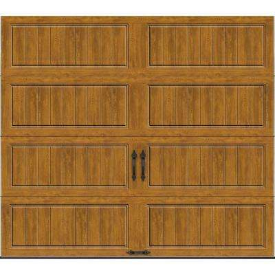 Gallery Collection 8 ft. x 7 ft. 18.4 R-Value Intellicore Insulated Solid Ultra-Grain Medium Garage Door