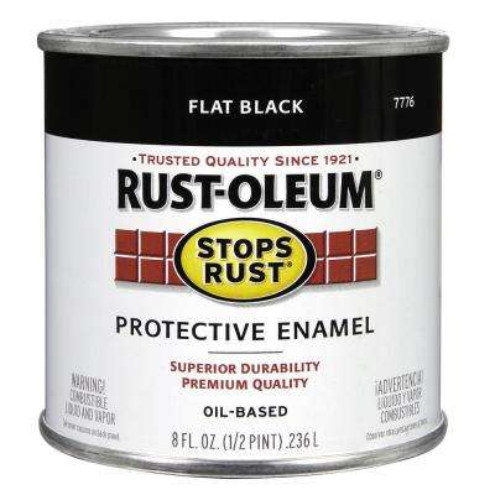 8 oz. Protective Enamel Flat Black Interior/Exterior Paint