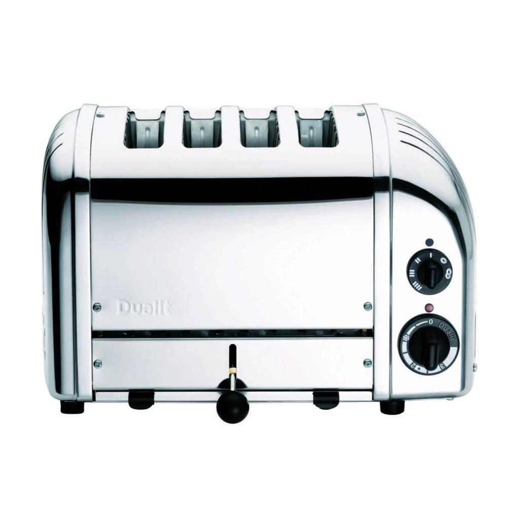 Dualit New Gen 4-Slice Chrome Wide Slot Toaster with Crumb Tray