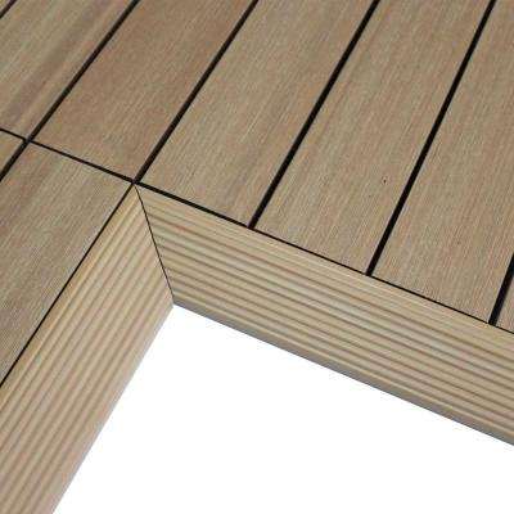 1/6 ft. x 1 ft. Quick Deck Composite Deck Tile Inside Corner in Canadian Maple (2-Pieces/Box)