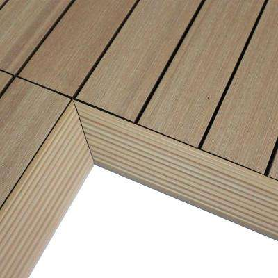 1/6 ft. x 1 ft. Quick Deck Composite Deck Tile Inside Corner in Canadian Maple (2-Pieces/Box)