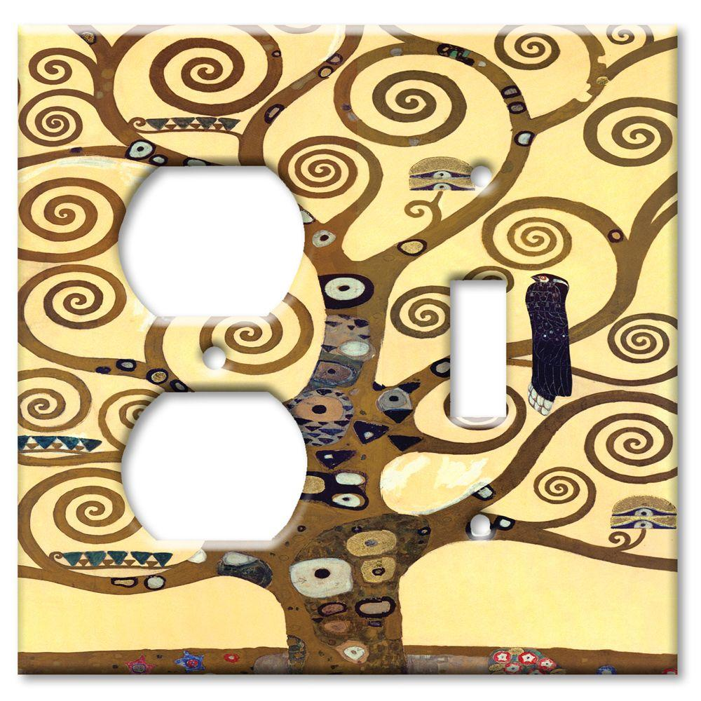 Art Plates Klimt The Tree of Life Outlet/Switch Combo Wall Plate