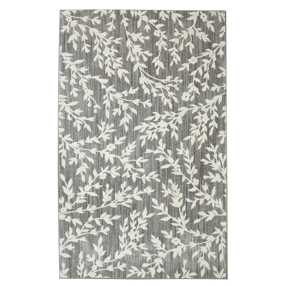 Null Fl Branches Gray 5 Ft X 7 Area Rug