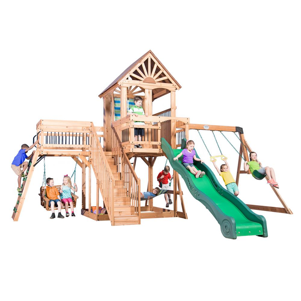 backyard discovery caribbean all cedar playset 1606029com the