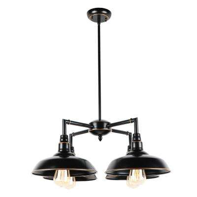 Oil Rubbed Bronze 4-Light Outdoor Ceiling Mounted Flush Mount Lighting