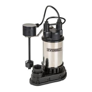 Click here to buy Everbilt 1/2 HP Submersible Sump Pump by Everbilt.
