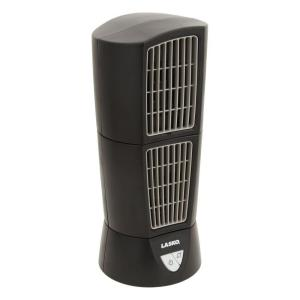 Lasko desktop wind tower fan in black 4916 the home depot publicscrutiny Image collections