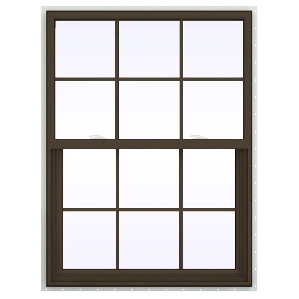 35.5 in. x 53.5 in. V-2500 Series Single Hung Vinyl Window