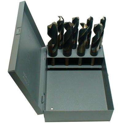 Heavy Duty High Speed Steel Reduced Shank Drill Bit Set (8-Pieces)