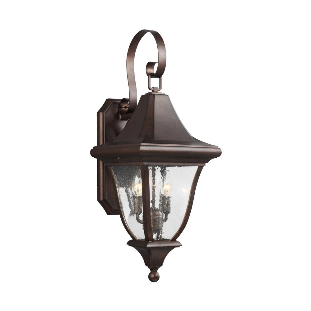 Oakmont 2-Light Patina Bronze Outdoor Wall Lantern