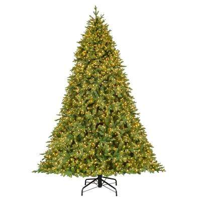 9 ft. Pre-Lit LED Swiss Mountain Spruce Artificial Christmas Tree with 3,900 Warm White Micro Lights