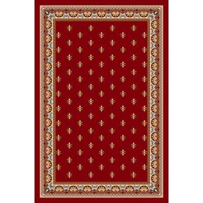 Ephes Collection Red 8 ft. 2 in. x 9 ft. 10 in. Area Rug