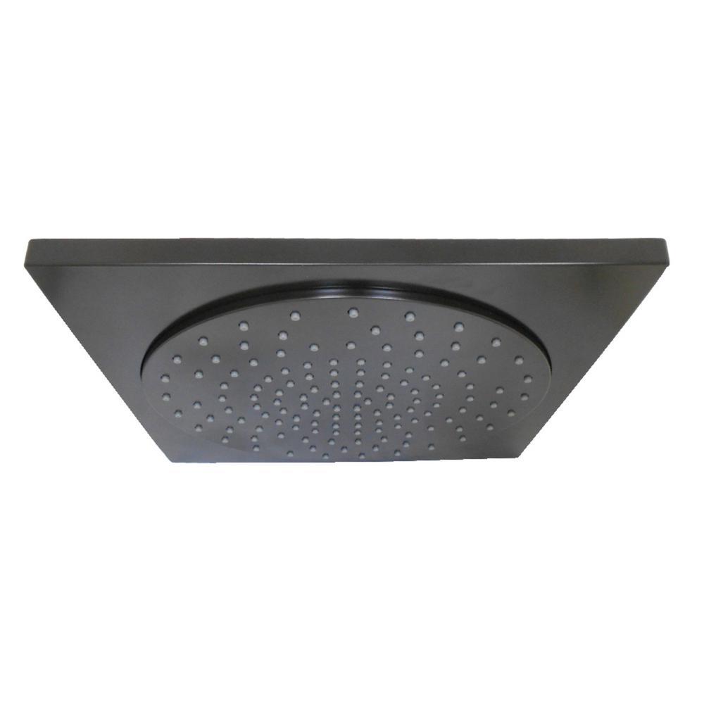 Square 1-Spray 12 in. Showerhead in Oil Rubbed Bronze