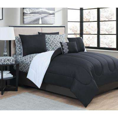 Damask 9-Piece Queen Bed in a Bag