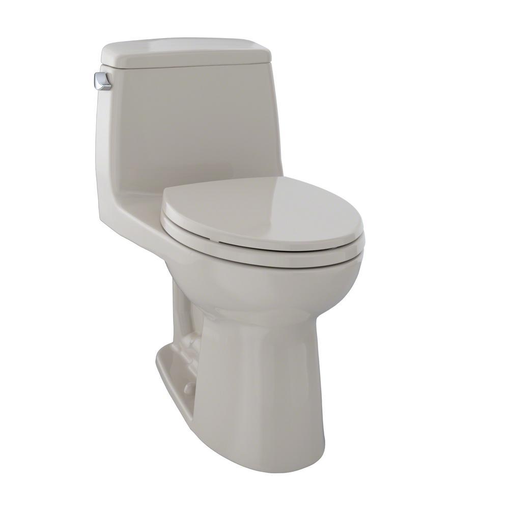 Eco UltraMax 1-Piece 1.28 GPF Single Flush Elongated Toilet in Bone