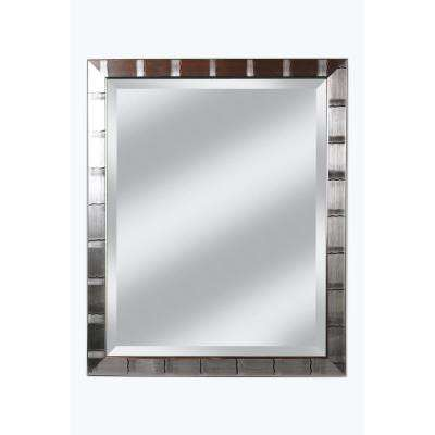 Christopher 28 in. x 34 in. Silver Lined Beveled Mirror