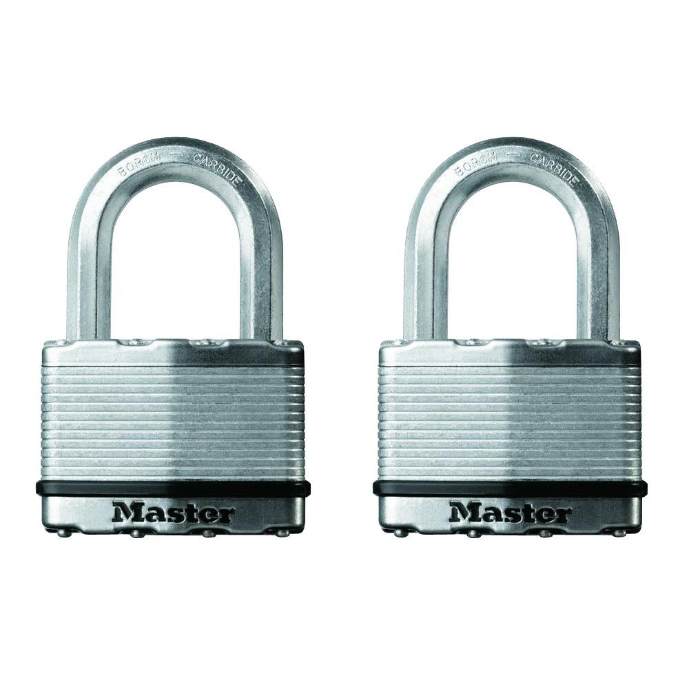 Master Lock Magnum 2-1/2 in. Laminated Steel Padlock with 1-1/2 in. Shackle (2-Pack)