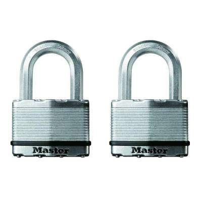 Magnum 2-1/2 in. Laminated Steel Padlock with 1-1/2 in. Shackle (2-Pack)