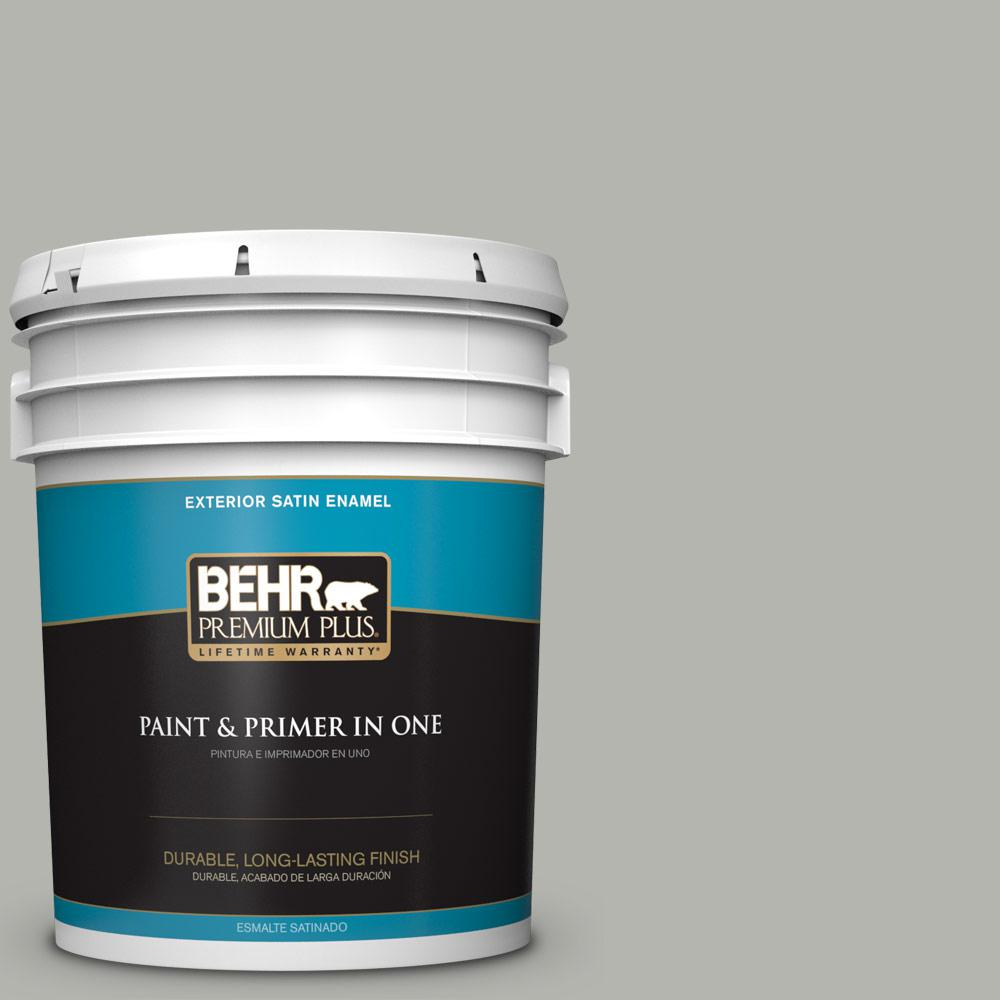 5 gal. #PPU25-08 Heirloom Silver Satin Enamel Exterior Paint