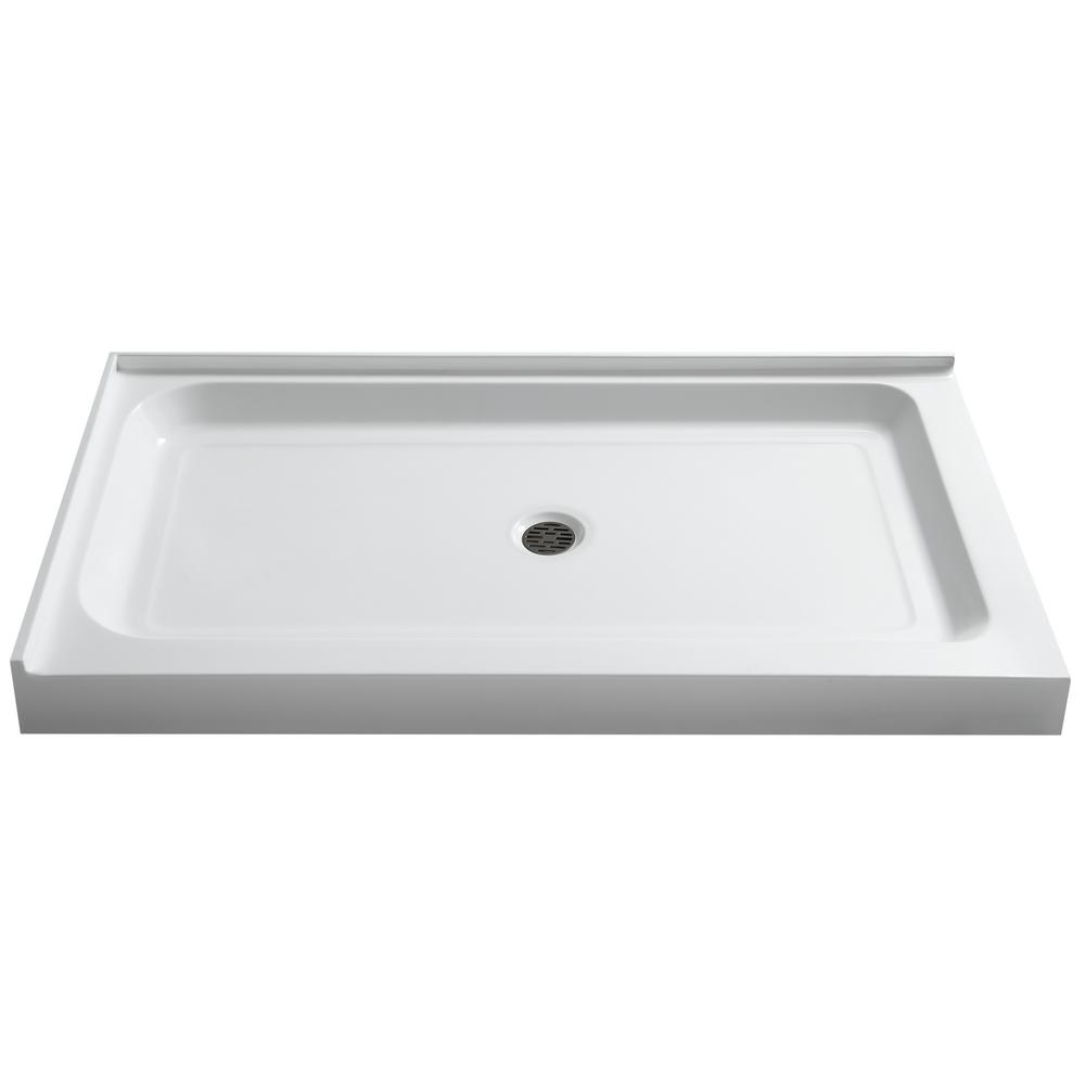36 X 48 Shower Base.Anzzi Vail 36 In X 48 In Double Threshold Shower Base In White