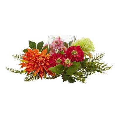 17 ft. Mixed Floral and Dahlia Candelabrum