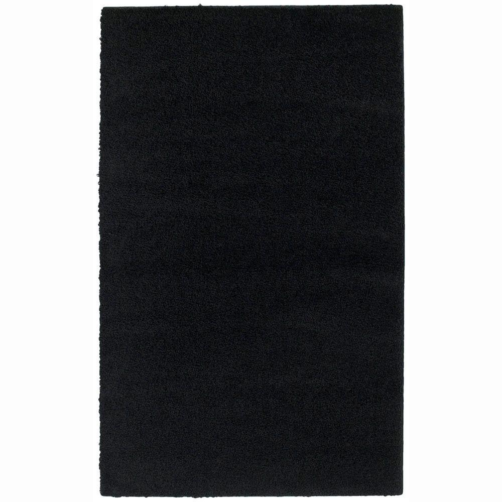 Garland Rug Southpointe Shag Black 7 ft. 6 in. x 9 ft. 6 in. Area Rug