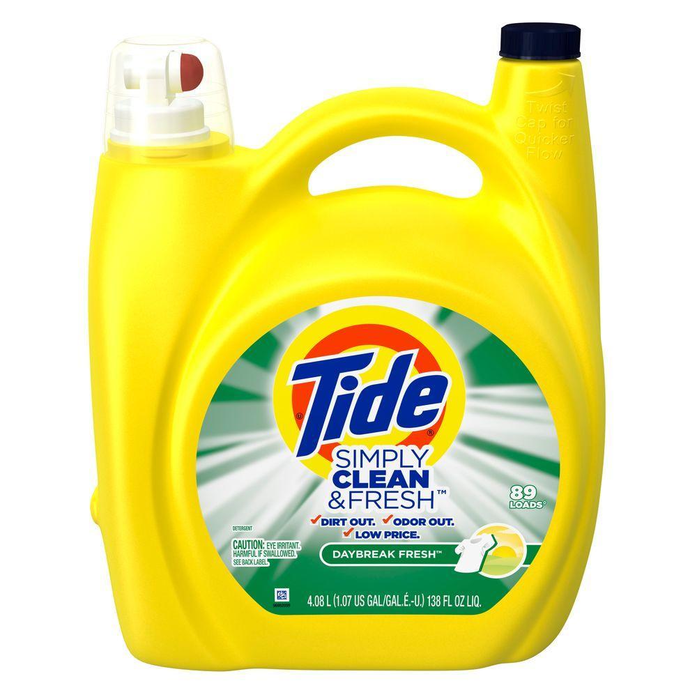 Simply Clean and Fresh 138 oz. Daybreak Fresh Liquid Laundry Detergent (89-Loads)