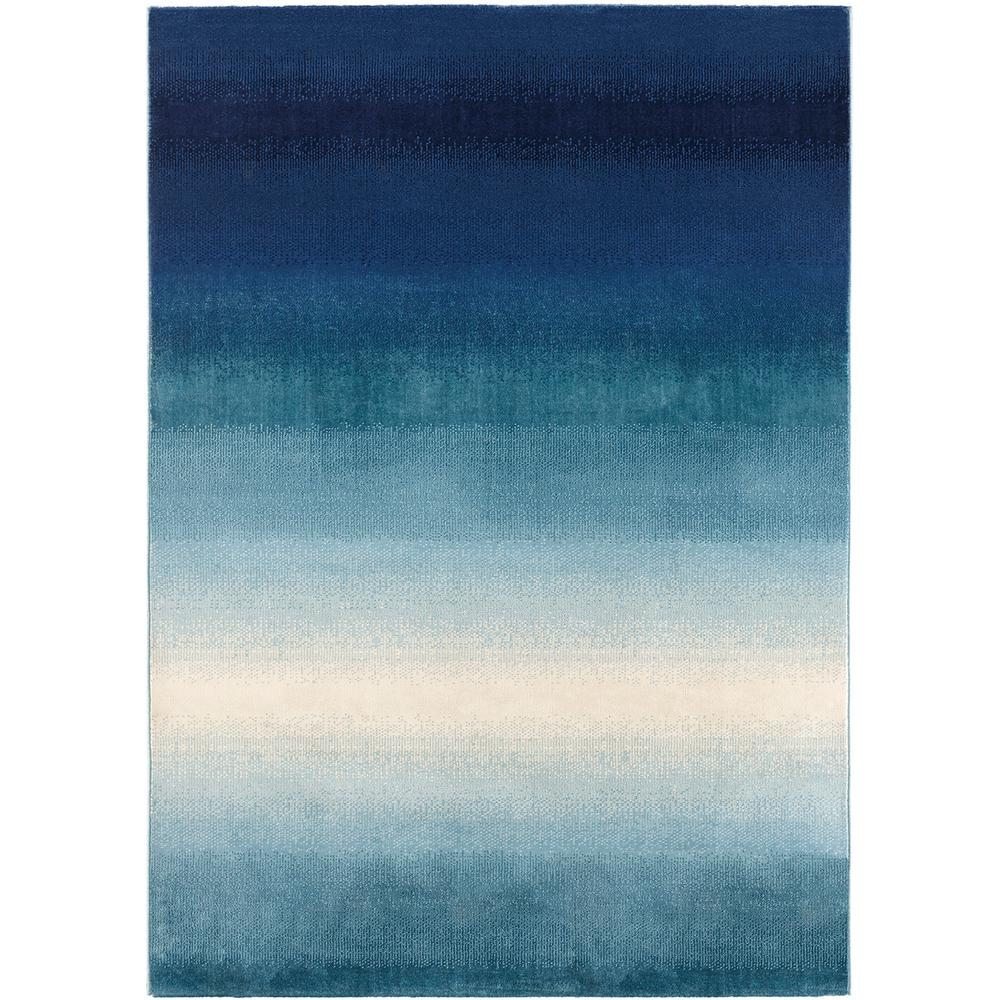 Ocean Ombre Blue 8 Ft X 10 Area Rug