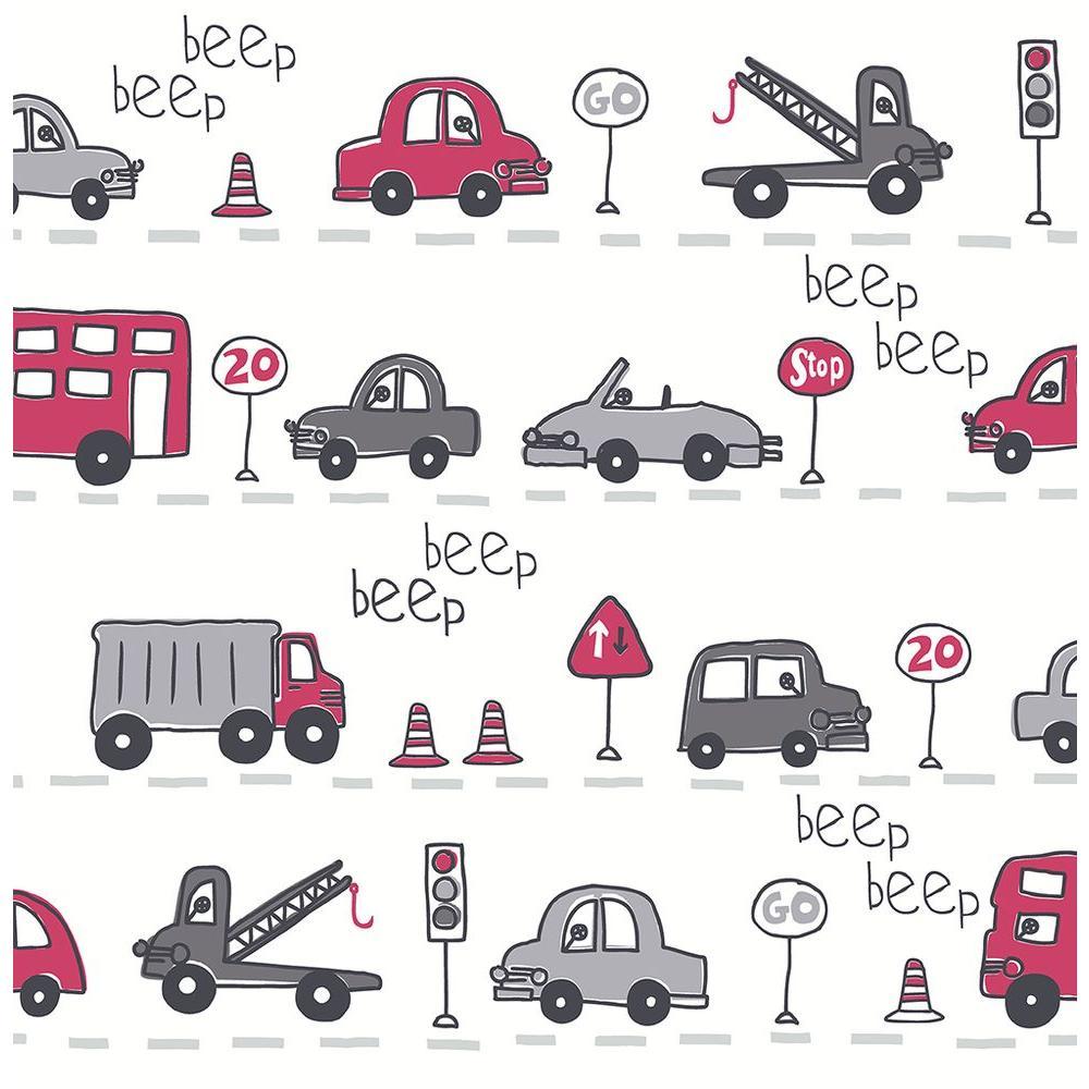 Grey Beep Beep Cars Wallpaper