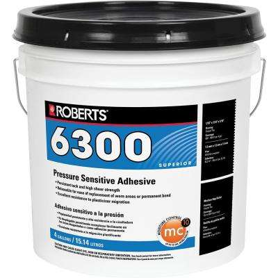 6300 4 Gal. Pressure Sensitive Adhesive for Carpet, Tile and Luxury Vinyl Tile