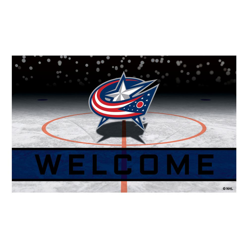 FANMATS NHL - Columbus Blue Jackets 18 in. x 30 in. Rubber Door Mat  sc 1 st  Home Depot & FANMATS NHL - Columbus Blue Jackets 18 in. x 30 in. Rubber Door Mat ...