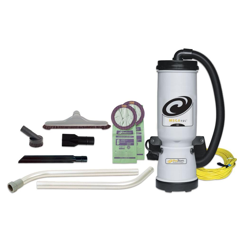 MegaVac 10 qt. Backpack Vac with Blower Tool and Hard Surface